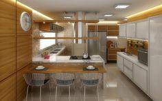 cozinha americana com sala conjugada - Pesquisa Google
