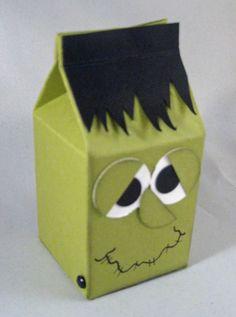 super cute treat holder for halloween - Halloween Cartons