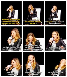 Katie Cassidy [gifset] - have you tried on the Black Canary mask? - Laurel Lance, Arrow