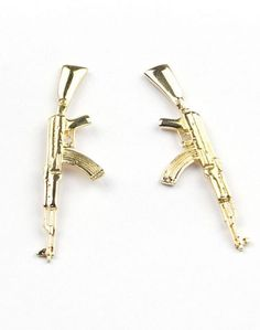 Gold AK Earrings