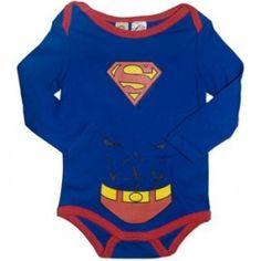 Superman  Baby Long Sleeve Bodysuit/Costume