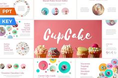 CupCake Presentation Template by SlideStation on @creativemarket