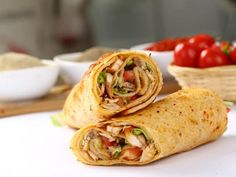 """Learn how to make and prepare the recipe for """"gyro burritos"""", made with traditional Greek ingredients. Chicken Wrap Recipes, Chicken Wraps, Schawarma Rezept, Camembert Roti, Profile By Sanford, Greek Gyros, Shawarma Recipe, Bbq Turkey, Turkey Wraps"""