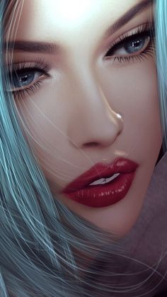 Virtual art art art girl artists background beautiful beautiful girl beauty beauty girl design drawing fashion fashionable girl illustration illustration girl inspiration iphone luxury makeup wallpapers we heart Art Anime Fille, Anime Art Girl, Anime Girls, Girl 3d, Art Beauté, Beauté Blonde, Virtual Girl, Girl Artist, Digital Art Girl