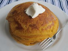 pumpkin gingerbread pancakes - made these tonight, SO good! The batter is really thick, but they cook up so fluffy! However the whole wheat makes them a bit gritty, like eating Cream of Wheat. Tweaking begins tomorrow... :D