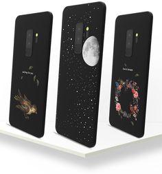 ギャラクシーs9ケース星s9plus保護カバー宇宙galaxy全方位耐衝撃鳥惑星艶消し花柄マット素材ソフトシリコン月