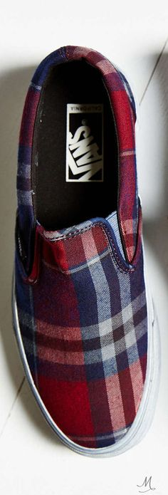 Vans Overwashed Plaid Slip-On Shoe*