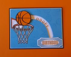 Cricut Basketball Spinner Card. Artiste and Life's A Party Cartridges. *