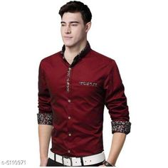 Checkout this latest Shirts Product Name: *Men's Stylish Shirts * Fabric: Cotton Sleeve Length: Long Sleeves Pattern: Solid Multipack: 1 Sizes: S (Chest Size: 36 in, Length Size: 27 in)  M (Chest Size: 38 in, Length Size: 27 in)  L (Chest Size: 40 in, Length Size: 27 in)  XL (Chest Size: 42 in, Length Size: 27 in)  Country of Origin: India Easy Returns Available In Case Of Any Issue   Catalog Rating: ★4.1 (2094)  Catalog Name: Classic Fashionista Men Shirts CatalogID_753820 C70-SC1206 Code: 414-5110971-8211