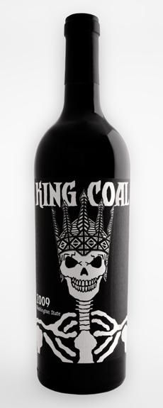 Charles Smith Wines-2009 King Coal Cabernet.Co-ferment leads with Cabernet all the way! With its savory herb and pipe tobacco aromas, currants, lavender, and black olive, it comes together so regal, it can only be related to the Royal City.