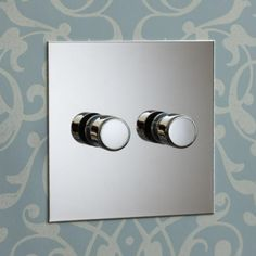 Modern Home Accents Lights - Nickel Silver Light Switches.