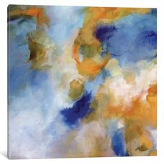 """Latitude Run Memory of Moonlight II Painting Print on Wrapped Canvas Size: 12"""" H x 12"""" W x 1.5"""" D"""