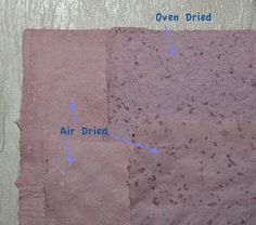Oven Dried Handmade paper! about Paper Drying, posted on Feb 10, 2012