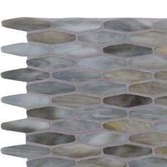 Mochachino Stained Glass Hexagon elongated mosaic tile melds cool gray and warm gold, and is suited for use as a hexagon tile backsplash or bathroom tile. Hexagon Tile Backsplash, Hex Tile, Hexagon Tiles, Hexagon Pattern, Mosaic Tiles, Mosaics, Master Bath, Stained Glass, Rugs