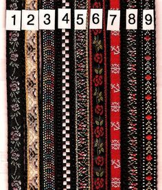 FRENCH BLACK AND RED METAL AND SILK   FANCY SHINY   1 YARD VINTAGE RIBBON TRIM