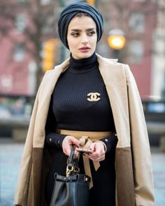 Black turban black chanel crop top black pants Likes, 10 Comments - Turban Outfit, Turban Hijab, Hijab Dress, Hijab Outfit, Swag Dress, Muslim Fashion, Modest Fashion, Hijab Fashion, Fashion Outfits