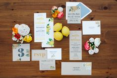 Contemporary Citrus Stationery Suite - Summer Wedding Inspiration