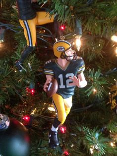 Aaron Rodgers Christmas ornament.