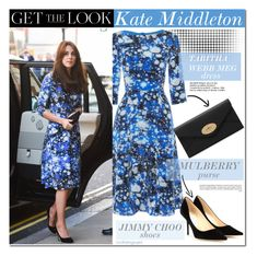 """""""Get The Look : Kate Middleton"""" by cookienguyen ❤ liked on Polyvore featuring moda y Jimmy Choo"""