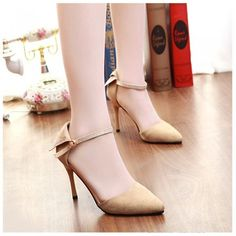 Fashion Women Summer Heels Pointed Toe Low Vamp Flat Sole Shoes Sandals