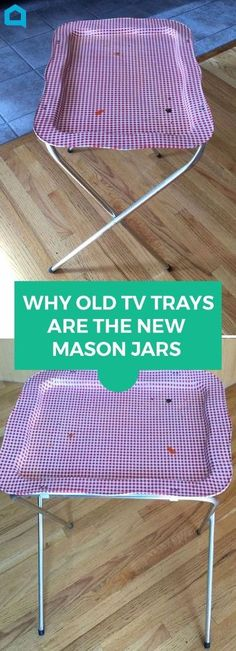If you have a TV tray lying around, you're gonna love this! #diyhomedecor #traytables #upcycle