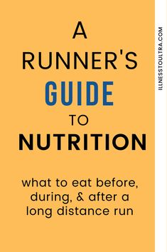 Everything you need to know about running nutrition and making sure your pre run and post run meals plans are beneficial and healthy for you. Whether run ultras, marathons, long distances, on the trail or on the road, you need to make sure foods for running are healthy and energizing. #runner #healthy #protein #diet