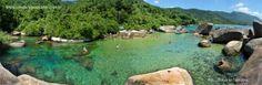 natural pool Cachadaço. Trindade - Paraty, RJ, Brazil