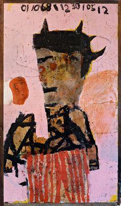 """Lyle Carbajal  """"Puré' de Papa"""" 24"""" x 46"""" 2012"""