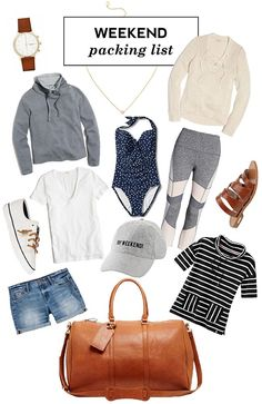 Labor Day Weekend Packing List - what to pack for a long weekend trip to the woods what to pack for a long weekend trip to the woods - Beach Weekend Packing, Weekend Getaway Outfits, Weekend Style, Vacation Outfits, Weekend Outfit, Long Weekend, Weekend Getaways, Weekender, Packing Lists