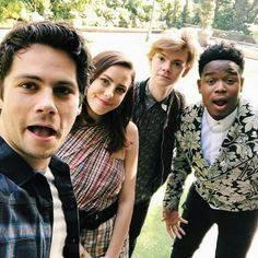 Thomas looks adorable, Kaya looks cute, and Dylan and Dexter are just there like the goofy people that they are
