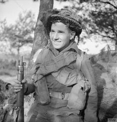 Private B. Jones of the 5th Duke of Cornwall's Light Infantry, 43rd (Wessex) Division, during the assault on Geilenkirchen in Germany, 18 November 1944.
