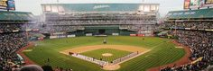 Oakland Coliseum is a great place for baseball especially when at capacity.