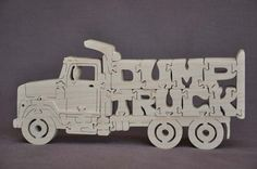 Dump Truck  Trucking Puzzle  Wooden Toy Hand Cut with Scroll Saw