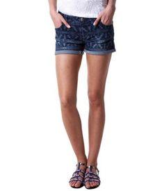 Short en jean imprimé jean moyen - Promod