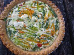 Albion Cooks: Gluten-Free Squash Blossom Quiche
