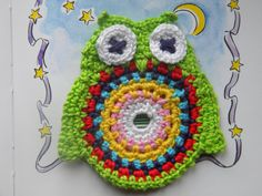 Crochet pattern owl coaster, crocheted owl coaster, crochet christmas gift  *This is a crochet pattern and not the finished item* The