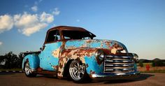 "1951 Chevy 3100 Pick up Truck called ""Crazy Horse"" – One really cool hot rod by the ""Patina Shop"" Double click  for the video"