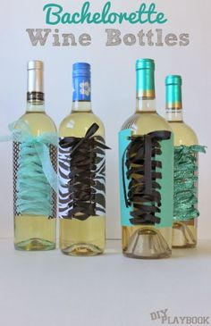 Planning a bachelorette party or just looking for a good gift? These bachelorette party wine bottles will make you laugh and add some hilarious flare to your regular old wine bottles. Old Wine Bottles, Wine Bottle Crafts, Alcohol Bottles, Bachlorette Party, Bachelorette Gifts, Burlesque Party, Wine Bottle Covers, Diy Playbook, Origami