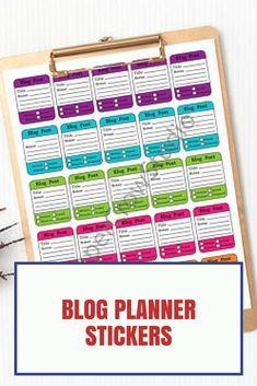 blog planner stickers. #plannerlove, #ad, #PrintableStickers, #printable
