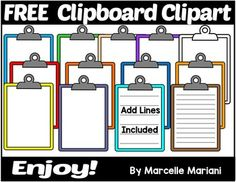 This pack includes clipboard clipart you can use for various teaching resources… Math Clipart, Classroom Clipart, School Clipart, Teacher Organization, Teacher Hacks, Teacher Pay Teachers, Free Clipart For Teachers, Teacher Resources, Teacher Freebies