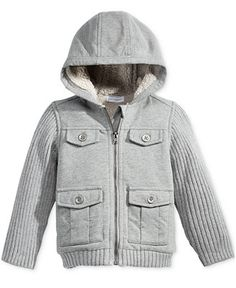 First Impressions Baby Boys' Hooded Cargo Jacket, Only at Macy's - Baby Boy (0-24 months) - Kids & Baby - Macy's