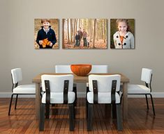 A bunch of wall display ideas for big canvas type photographs.