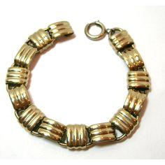 Vintage Napier Sterling Silver Bracelet - Goldwashed via Etsy
