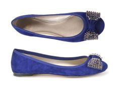 The Isola Biel skimmer flat with jeweled bow.  #shoes #embellished
