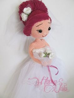 PATTERN Bride and Groom crochet amigurumi por HavvaDesigns en Etsy