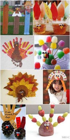 Thanksgiving Kids Craft Ideas  #Thanksgiving #Turkey #kid #Craft