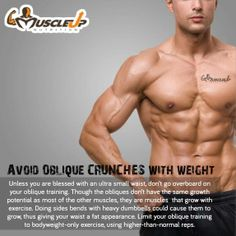 Avoid oblique exercise with weights! - MuscleUP - Powering Athletes https://www.facebook.com/photo.php?fbid=638636982846760
