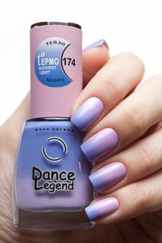 Dance Legend Termo 174. Ombre. Gradient. Nail Design. Nail Art. Nails.