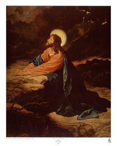 Art Print: Garden of Gethsemane Art Print by E. Goodman by E. Framed Art Prints, Poster Prints, Canvas Prints, Canvas Paintings, Religious Paintings, Religious Art, Religion Catolica, Sacred Art, Christian Art