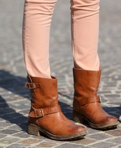 So cute! Want a pair of biker boots badly